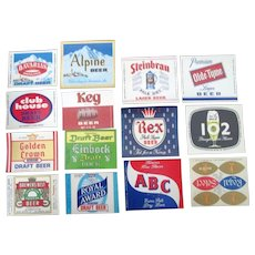 Beer bottle labels 26 different mint unused-variety of Breweries 1950's-70s