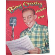 Original Bing Crosby large folio unused coloring book 1954