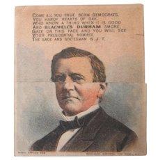 Original Blackwells Durham Tobacco with Grant metamorphic trade card 1880-90's