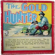 The Gold Hunter boxed complete board game Milton Bradley 1880's