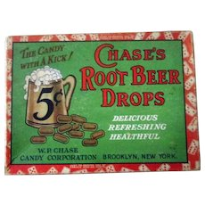 Chase's Root Beer Candy Drops scarce candy box circa late 1920's