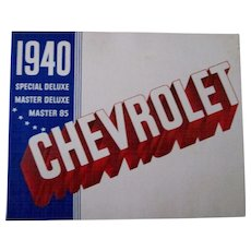 Chevrolet 1940 original automobile dealers catalog