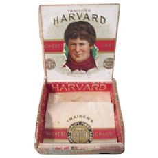 Harvard University Football scarce cigar box multi-labeled circa 1880's