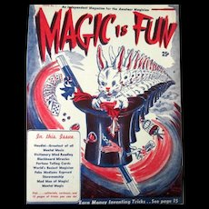 Houdini Magic Is Fun Issue #1 Houdini article excellent condition 1946