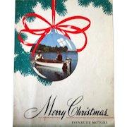 Vintage Evinrude Motors Merry Christmas advertising Sportsman sheet music 1947