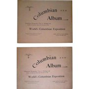 World's Fair Columbian Exposition 1893 complete set of 14 Columbian Albums