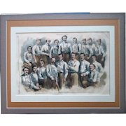 Original 1866 Harper's Weekly Woodcut Philadelphia Athletics and Brooklyn Atlantics