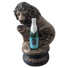 LowenBrau Beer Large Back Bar figure near mint 1970's