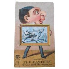 Original The Eastern Woven Wire Mattress Company trade card
