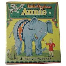 Little Orphan Annie Blue Ribbon Pop-Up Children's book 1935 excellent condition