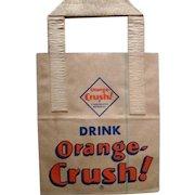 1950's Orange Crush Soda Paper Bag 6 PACK w/ Al Capp Li'l Abner comic scenes