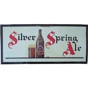 Silver Spring Ale Silver Spring Brewing Company Canada tin litho sign