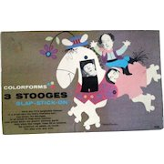 Three Stooges Slap Stick-On Colorforms unused complete boxed set 1959