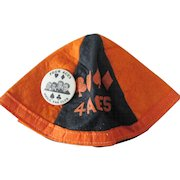 The Four Aces music group scarce Fan Club beanie and pin 1950's