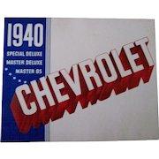 Chevrolet 1940 original automobile dealers catalog