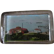 Souvenir Paperweight NYC Battery Park Amusement park early 1900's