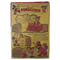 Disney Mickey Mouse presents Pinocchio Post Cereal box complete 1939