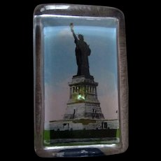 Souvenir Paperweight Statue of Liberty pre-1930's-near mint condition