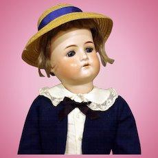 Antique German Bisque Boy Doll - Cuno & Otto Dressel