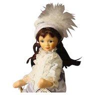 Old Cottage Doll - 'Lavender Girl'  -  in box
