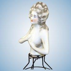 Antique German Half Doll with Hoop
