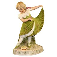 Antique German Heubach Dancing Girl Figurine