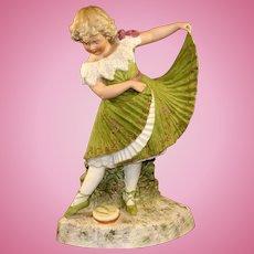 Antique German Heubach Dancing Girl Figurine