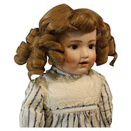 """Seldom Seen """"Dolly Dimples"""" Antique German Bisque Doll by 'Gerbruder Heubach"""