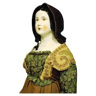 """Rare and Large 'Emma Clear' - 'Mona Lisa' - Parian Doll"