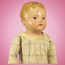 Antique Rollinson Cloth Doll - Circa: 1916 - 1929