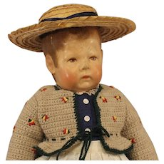 Antique  Kathe  Kruse  Doll  -  Doll 1 - wide hip