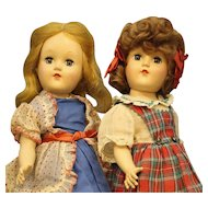 "Wonderful  Pair  of  P-90  Ideal  -  ""Toni""  dolls"