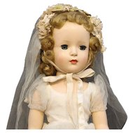 Madame Alexander 17 Inch  Hard  Plastic  Bride  Doll  - 'Margaret Face'