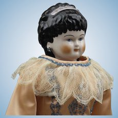 "Exquisite ""Emma Clear"" China Doll - 'Spill Curls'"