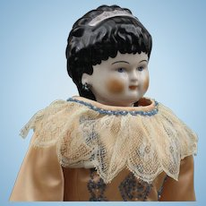 """Exquisite """"Emma Clear"""" China Doll - 'Spill Curls'"""