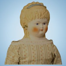 "Wonderful Emma Clear Parian Doll - ""Spill Curls"" - Large 23 Inches"