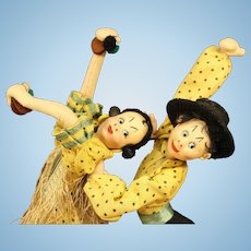 """Matched  Pair  of  Spanish  Dancer  Dolls  by  """"Klumpe"""""""