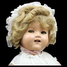 Vintage Shirley Temple Baby - Composition Doll By Ideal