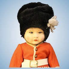 Terrific - Chad Valley Cloth Doll - English Guard with Glass Eyes