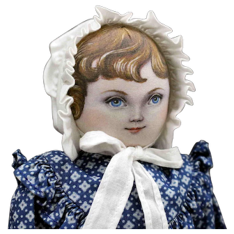 "Terrific - ""Stella"" Cloth Doll by Susan Fosnot - UFDC National Convention Souvenir Doll"