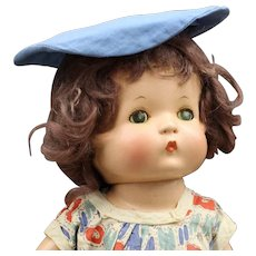 "Vintage Wigged ""Patsy"" Composition Doll by Effanbee"