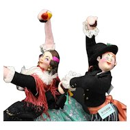 "Matched  Pair  of  Spanish  Dancer  Dolls  by  ""Roldan"""