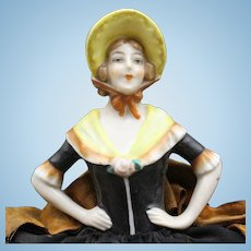 Antique Half Doll with Pin Cushion Base