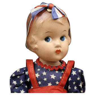 Effanbee Vintage Composition Doll in Americana Outfit