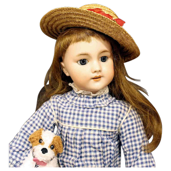 Antique French Bisque Doll with 'DEP' head mark - Circa: 1890's