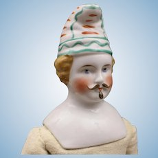 Antique German China Clown (Jester) by Hertwig & Co