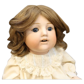 Antique Bisque Baby in Cream Colored Outfit