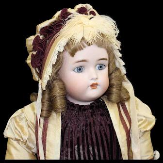 Antique German Bisque Doll by 'Kammer & Rienhardt'  in Fashion Dress