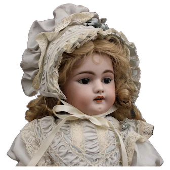Antique German Bisque Doll with Toys by Simon & Halbig - Mold 1079