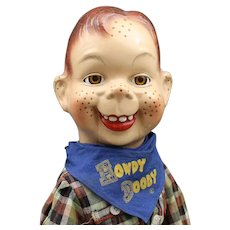 """Howdy Doody""  Composition Doll with Scarf"